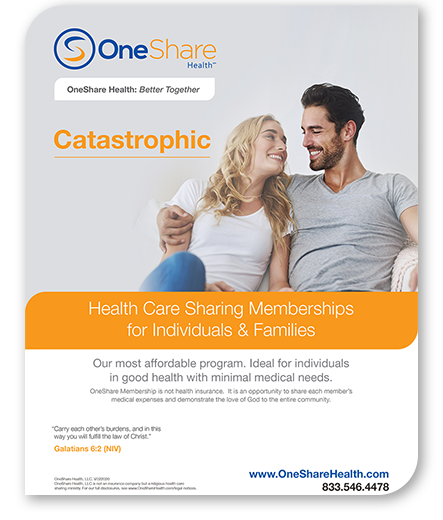 Get a catastrophic health insurance plan alternative with our HCSM! Learn more about the best catastrophic plan that will save you money.