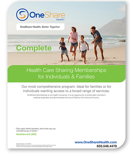 Get the best complete healthcare plan, OneShare Health has cheap complete healthcare plans for you and your family.