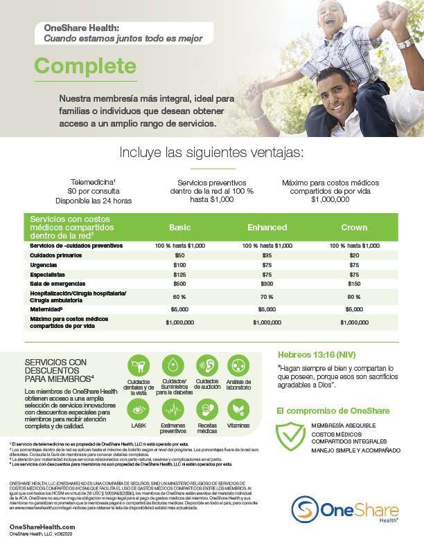 Download Complete Health Share Plans